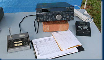 Radio table on the John Moyle Field Day Comp
